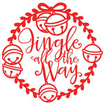 jingle all the way wreath