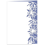 sky blossom lace edged card