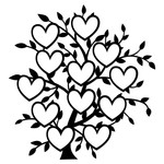12 heart family tree