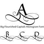 big flourished capitals monogram font