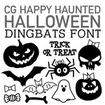 cg happy haunted halloween dingbats