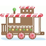 gingerbread train caboose