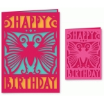 happy birthday butterfly card