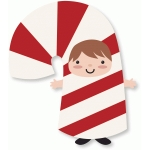 candy cane costume kid
