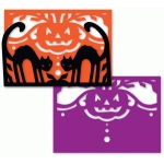 black cat halloween fold up card