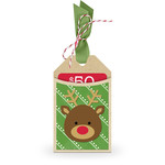 gift card holder tag reindeer