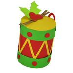 christmas drum ornament box