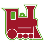 layered toy train tag