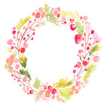 round christmas wreath