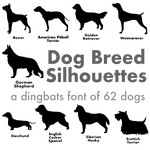dog breed silhouettes font