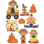 autumn scarecrows hay y'all it's fall stickers / die cuts