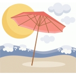 beach umbrella scene