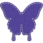 faux stitched butterfly