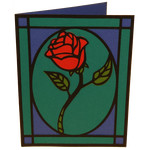 stained glass rose card