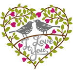 valentines love birds tree heart