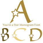 you're a star monogram font