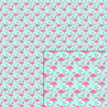 flamingo blue pattern
