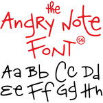 sg angry note font