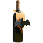 halloween bat wine tag