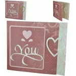 heart you card with heart closure
