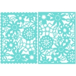 5x7 floral lace card fronts