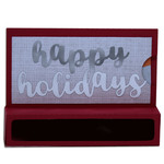 happy holidays candy & gift card holder