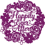 happily ever after wedding wreath