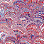 red white and blue marbled pattern