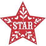 nordic star christmas holiday ornament