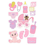 baby girl dark skin planner stickers
