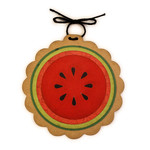 watermelon disc ornament