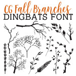 fall branches dingbats