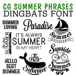 cg summer phrases dingbats
