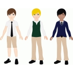 uniform clothing for jacob paper doll