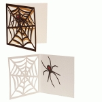card halloween web and spider