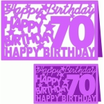 happy birthday 70 years card