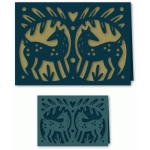 papercut folk art deer card