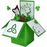 st. patrick's day card in a box