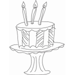 sketch cake on stand