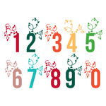 autumn leaves number set