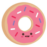 cute donut character