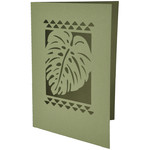 hawaiian tropical leaf card