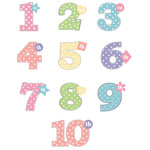 polka dot birthday year stickers