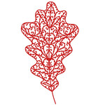 filigree oak leaf
