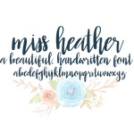 miss heather font