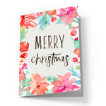 cute watercolor christmas card
