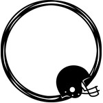football helmet circle frame