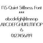 ns-quiet stillness font