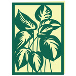 tropical variegated leaves card
