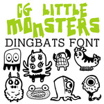 cg little monsters dingbats